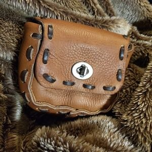 Real Leather, handmade pouch